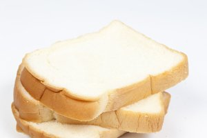 Sliced ​​bread on a white background