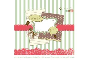 Vintage Scrapbook Papers & clip art
