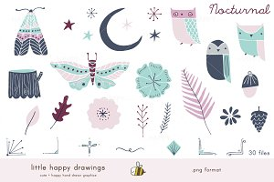 Nocturnal | Clip Art Set