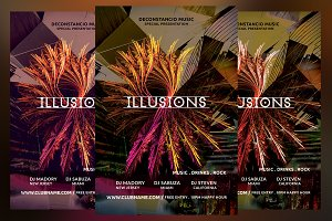 Illusions Party Flyer