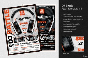 DJ Battle Flyer Template V5