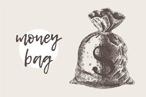 Illustration of a money bag