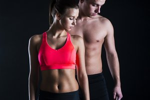 Fitness couple.