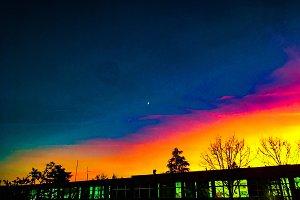 Sunset ultra violet background