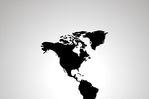 America with Greenland silhouette