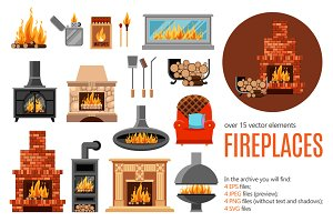 Fireplaces Set + Christmas bonus!
