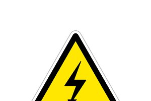 High voltage, bright triangle sign