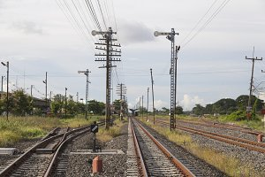 Railway and telegraph poles