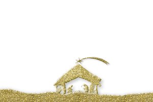 Nativity Scene greeting background