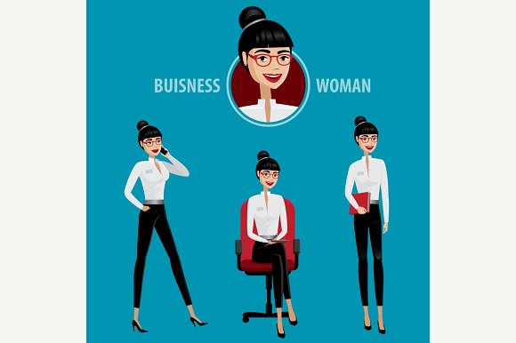 Set Of Business Woman