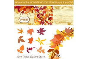 Fall Leaves Clip Art, floral wreath