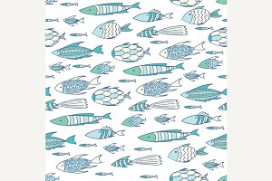 Pattern with shoal of fishes