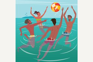 Summer leisure at sea