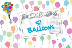 51 Hand-Drawn Balloons