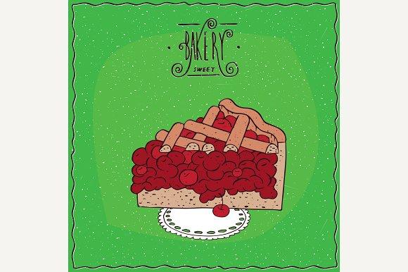 Tasty Red Berry Pie On Lacy Napkin