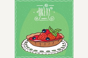 Tartlet with fresh strawberries