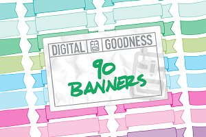 90 Hand-Drawn Banners