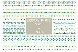 Illustrator 20 Pattern Brushes