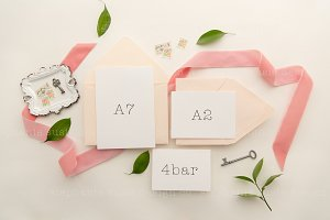 Blush Stationery Lay Flat Mock Up