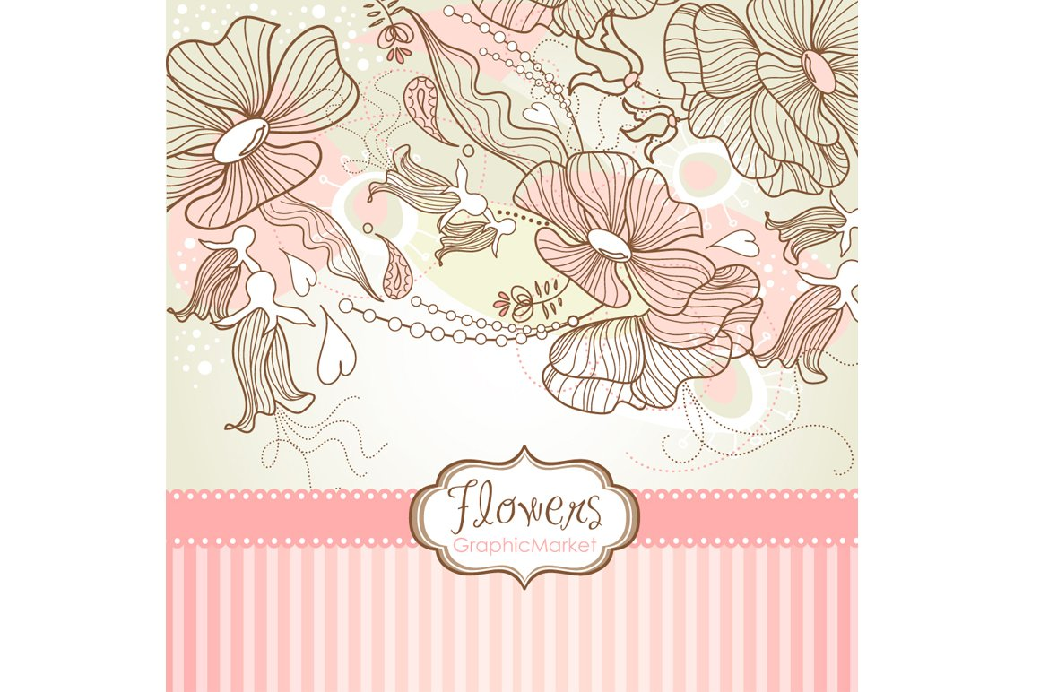 Flower Designs And Floral Borders Illustrations Creative Market