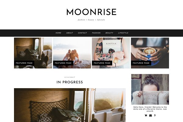 "WordPress Blog Themes: Kotryna Bass Design - Wordpress Theme ""Moonrise"""