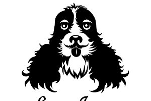 English cocker spaniel logo