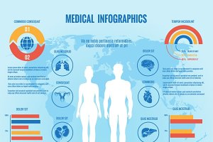 Medical infographic. Man and woman