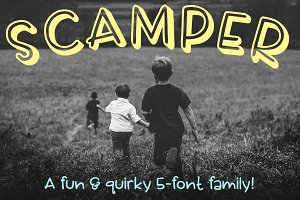 Scamper - a five-font family
