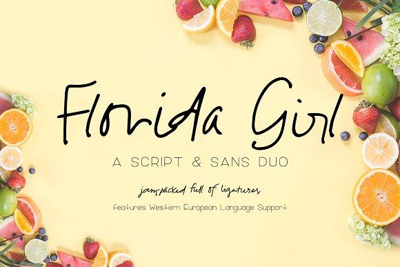 Florida Girl Script & Sans