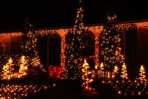 Christmas illuminations in America