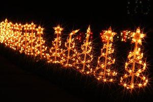 Christmas illuminations in America