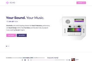 Echo Ultra WP Elementor Music Theme