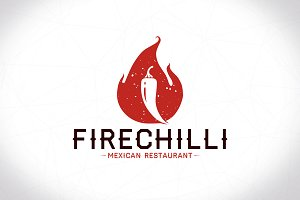 Chilli Flame Logo Template