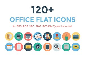 120+ Office Flat Icons