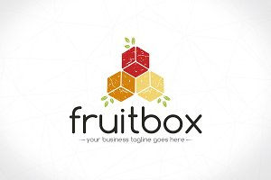 Cube Fruits Logo Template