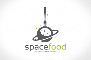 Food Cosmos Logo Template