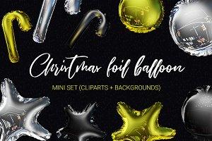 3D Xmas foil balloons mini set