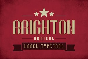 Brighton Vintage Label Typeface