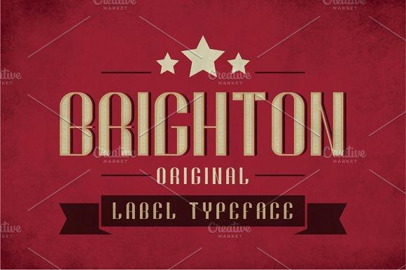 Brighton Vintage Label Typeface in Display Fonts