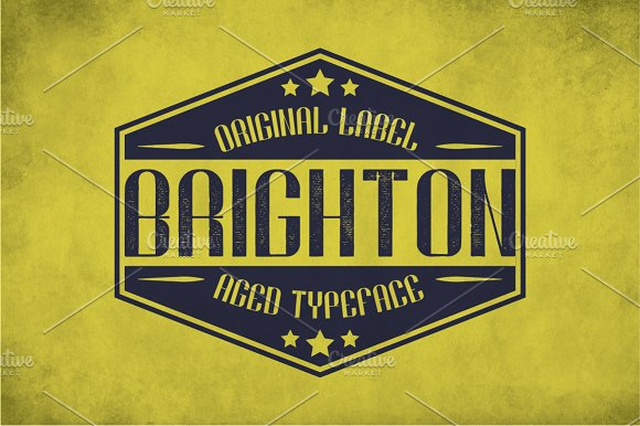 Brighton Vintage Label Typeface in Display Fonts - product preview 2