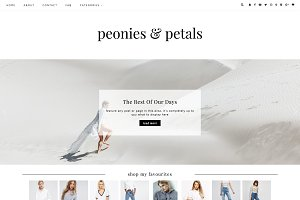 "Wordpress Theme ""Peonies & Petals"""