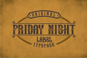 Friday Night Vintage Label Typeface