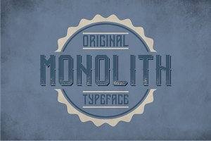 Monolith Vintage Label Typeface