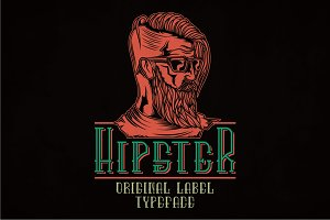 Hipster Modern Label Typeface