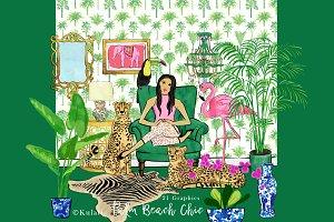 Palm Beach Chic clipart / graphics