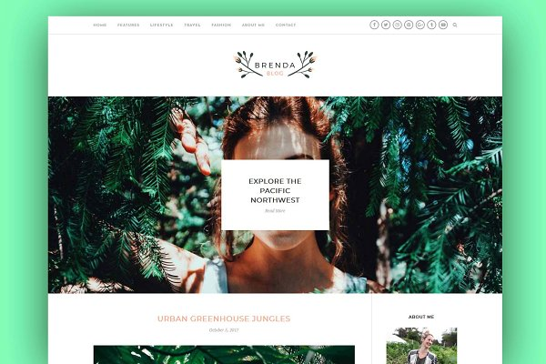 WordPress Blog Themes: Interinsco Themes - Brenda - A Feminine WP Blog Theme