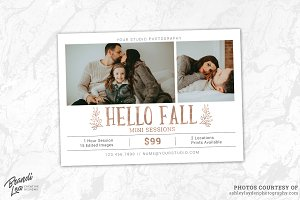 Fall Mini Session Template