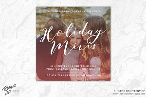 Holiday Mini Session Template