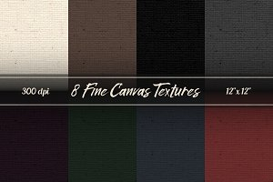 8 Canvas Textures / Digital Papers