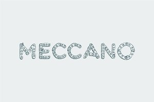 Mechanical font, sans serif